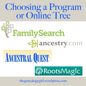 choosing a program or online tree