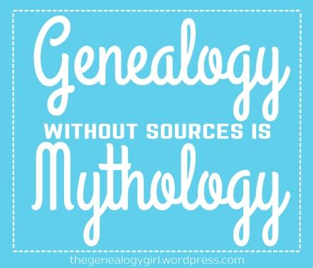 gg - genealogy without sources is mythology