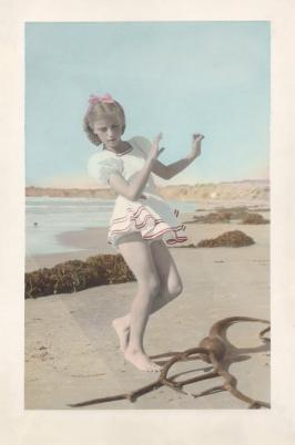 grandma deane on the beach