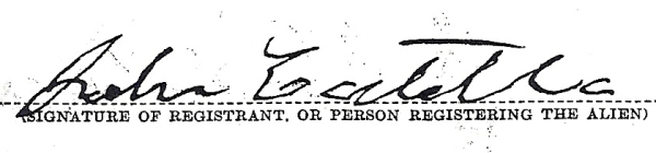 COSTELLO, John, Signature, 1