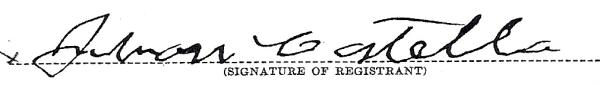 COSTELLO, John, Signature, 2