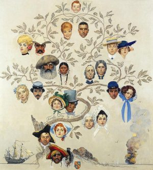 Norman Rockwell, Family-Tree