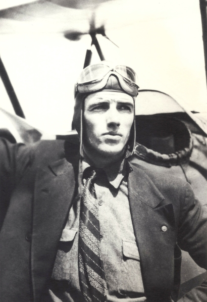 Francis Henry Duval by his airplane