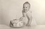 My mom on her 1st birthday.
