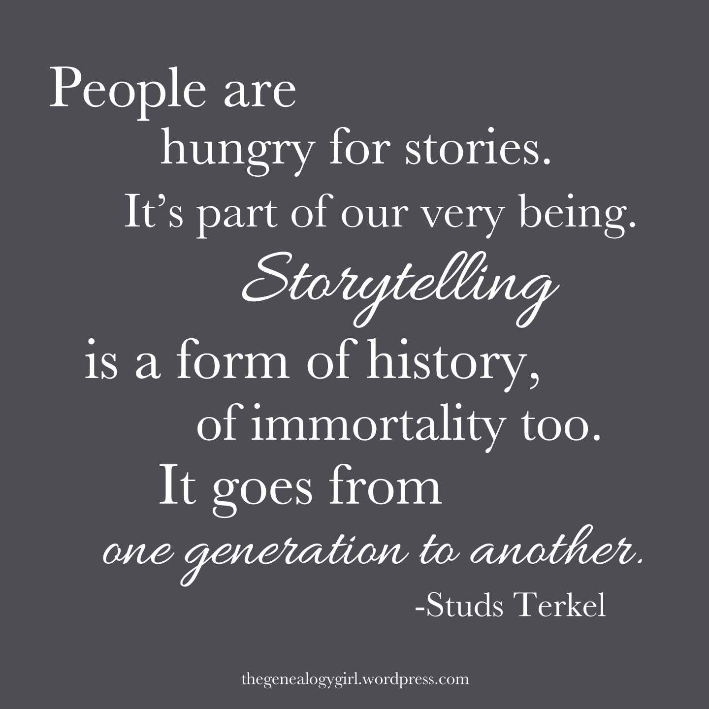 Quotes Of: Gg, Studs Terkel Quote
