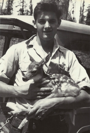 Frankie Duval with Bambi, 1955