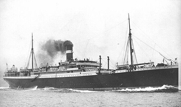 The Hesperian - the ship that Maggie Douglas, Catherine, Catherine, Mary, Alexander, & George Young sailed on from Scotland to America in 1910.  Image found here.