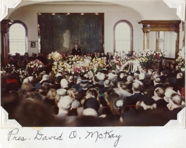 PETERSON, Darrell Skeen, Funeral - David O McKay