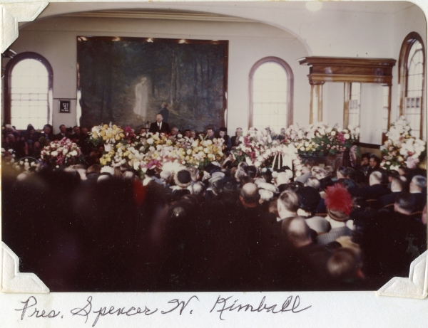 PETERSON, Darrell Skeen, Funeral - Spencer W Kimball