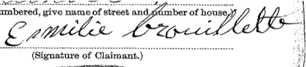 Emilie Brouillette signature