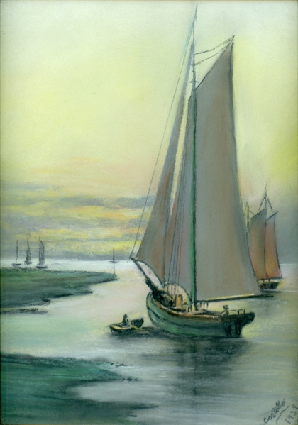 COSTELLO, Mary, 1939 sailboat art - smaller